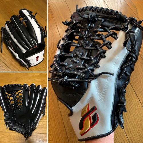 外野手用オーダー(ブラック&ホワイト)